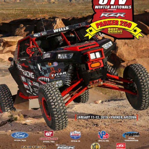 2019 Best In The Desert Parker 250 race program cover