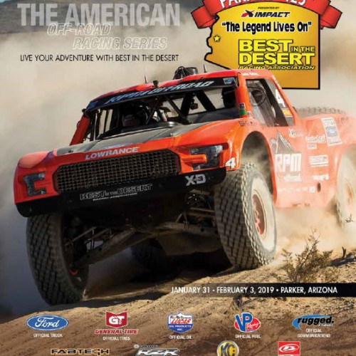 2019 Best In The Desert Parker 425 race program cover