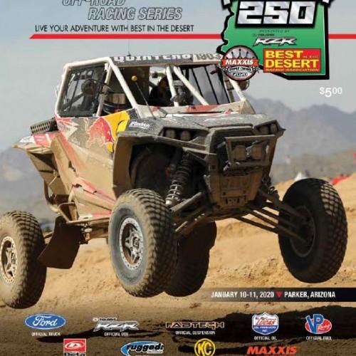 tensor tire parker 250 race program cover image