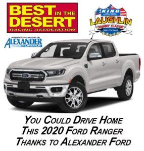 ford ranger giveaway best in the desert laughlin desert classic