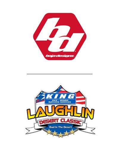 Baja Designs UTV Night Race in conjunction with the King Shocks Laughlin Desert Classic logo