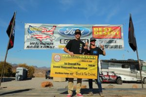 parker 425 class 1000 winners on podium holding check