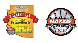 parker 425 logo with maxxis triple crown logo