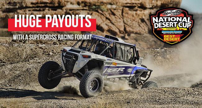 utv racer for national desert cup