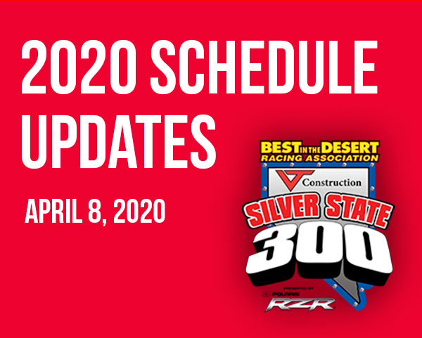 2020 Schedule Updates april