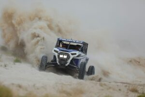 jagged x polaris utv race vehicle competing in bitd off-road race event