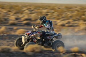 quad rider racing in the 2020 vegas to reno off road race event