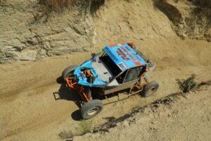 phil blurton racing in a bitd off-road desert race event