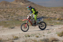 Expert Motorcycle O-40 racer competing in bitd off-road race
