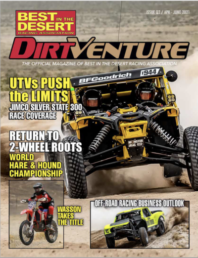 Best In The Desert Proud to Announce New Website Homepage and the Q2 Issue of Its Official Magazine, DirtVenture