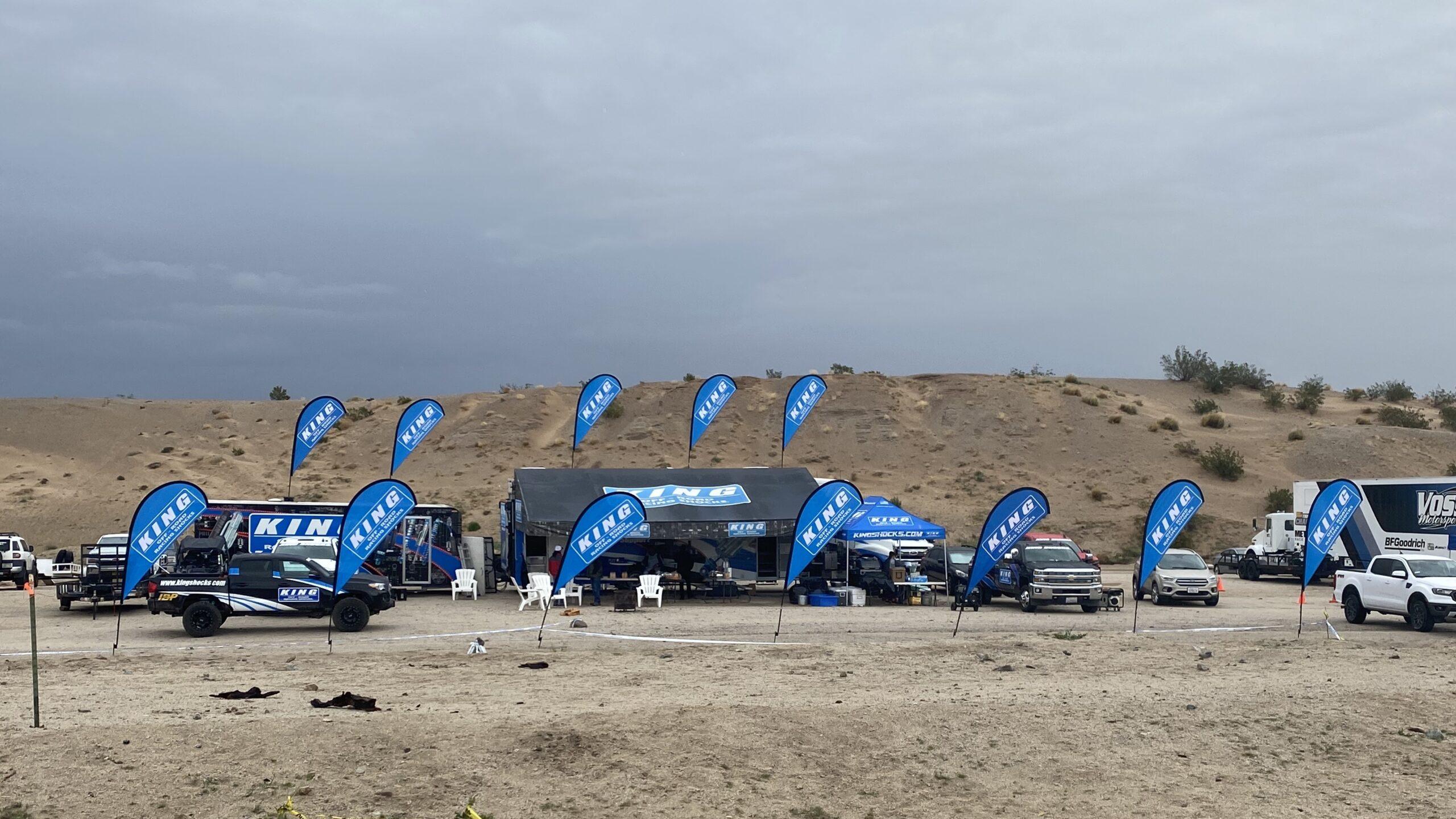 king shocks flags at best in the desert race